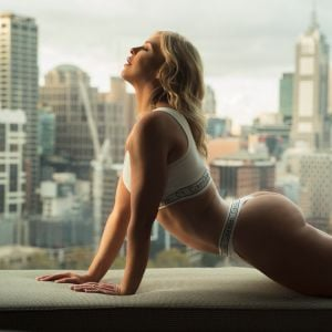 Natalie Jay in her Sydney appartment