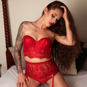 sexy Melbourne escort Alyssa-jade in red lingerie