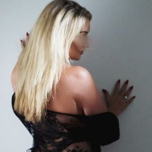 mature blonde Anna D Curve in elegant and stylish lingerie