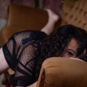 Phoebe Mae escort in Melbourne wearing black lace
