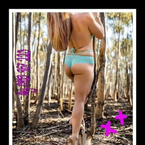 naturally naughty Geelong escort Lily Levine in a forest