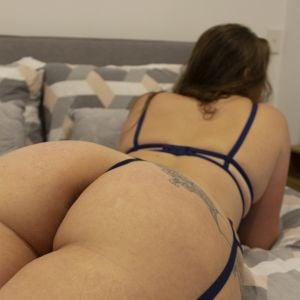 close up of Jessica May curvy butt